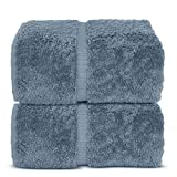 Indulge Linen Bath Sheets, 100% Turkish Cotton (Air Force Blue, Standard (35x70 inches) - Set of 2)