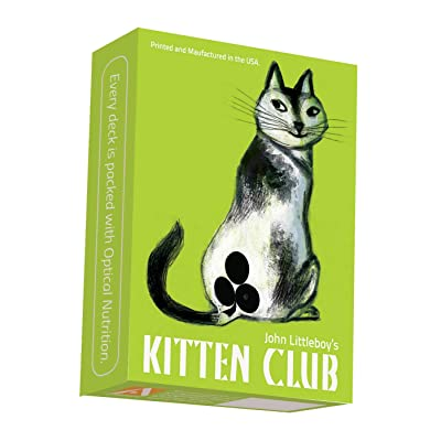 Artiphany Kitten Club Cat Playing Cards Poker Size Single Deck Printed By Cartamundi, USA: Sports & Outdoors