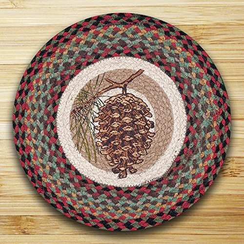 (Earth Rugs 57-081P PMRP-081 Pinecone 15