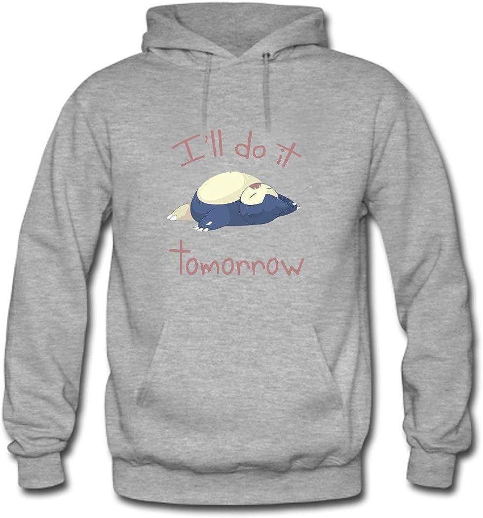 HKdiy Ill Do It Tomorrow DIY Sweatshirt for Men DIY Sweatshirt Hoodie