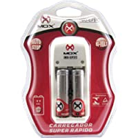 Carregador Pilhas AA + AAAA + Bateria 9V MOX CP-31 Carga Rápida + 2 Pilhas AA 2600 Mah