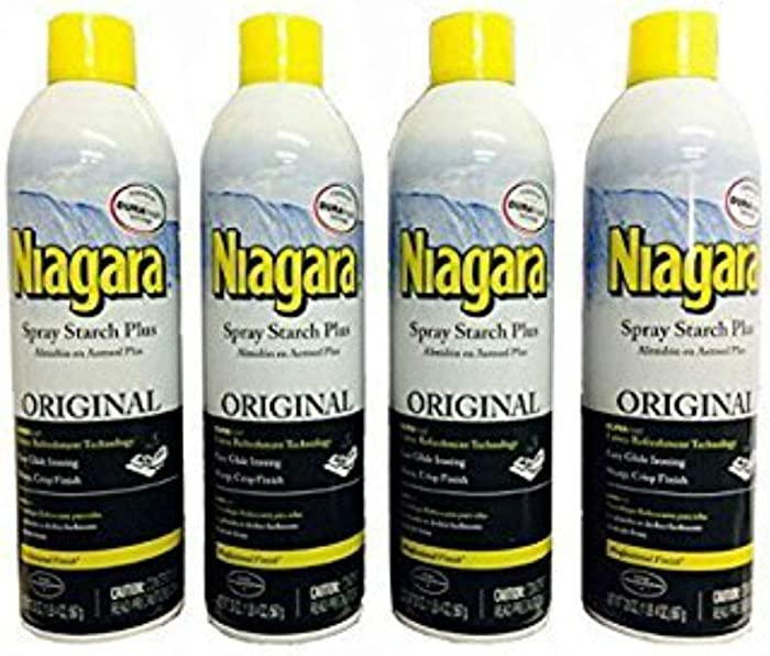 Niagara Spray Starch Plus 20oz - Original with DURAfresh Technology (4-Pack)