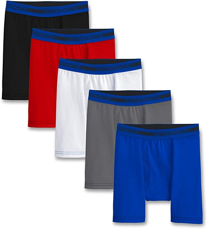 Fruit of the Loom Big Boys 5 Pack Boxer Brief