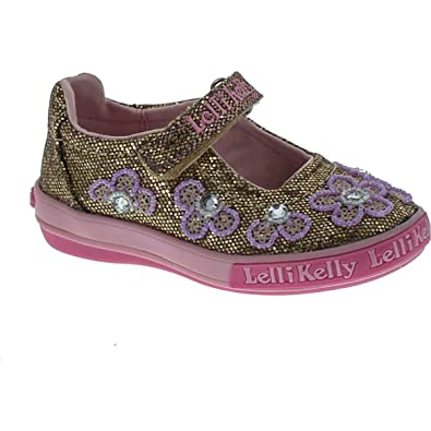 Amazon.com  Lelli Kelly Kids Womens Fiore Dolly (Toddler Little Kid ... 52767acd6