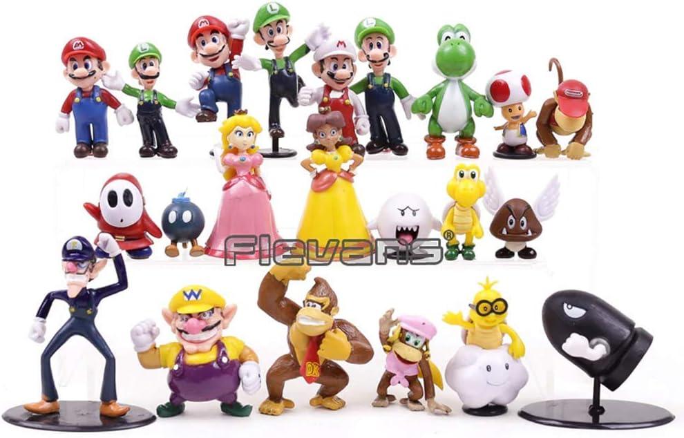 Lqt Ltd Super Mario Bros Family Mini Pvc Figures Toys 22pcs Set