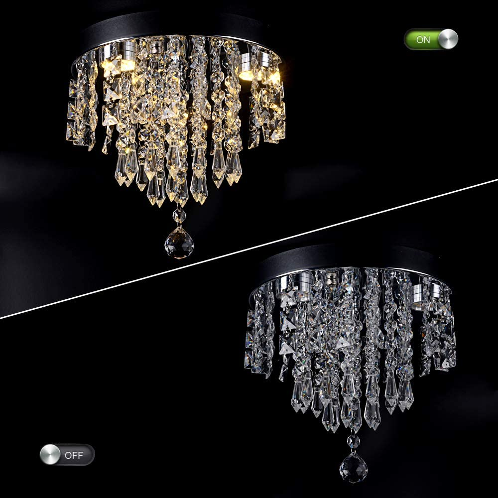 N-A LED Kristall Kronleuchter Leuchte Gro/ße Kristall Lustres de Cristal///Wohnzimmer Kronleuchter