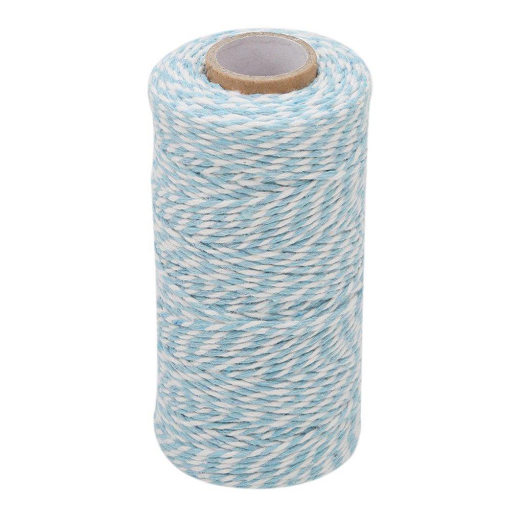 Beige Blanc Hengsong 100M Fil de Coton Ficelle Corde Emballage Cadeaux Corde Attach/ée Coton Corde