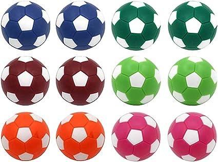 12PCS Classic bunte Mini-Tischfußballbälle zum Spielen des Ersatzes