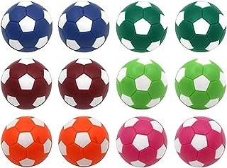 LIOOBO 12pcs Mini Boules colorées de Football de Table de Football remplaçantes de Football de Table de Jeu 36mm Mini Football