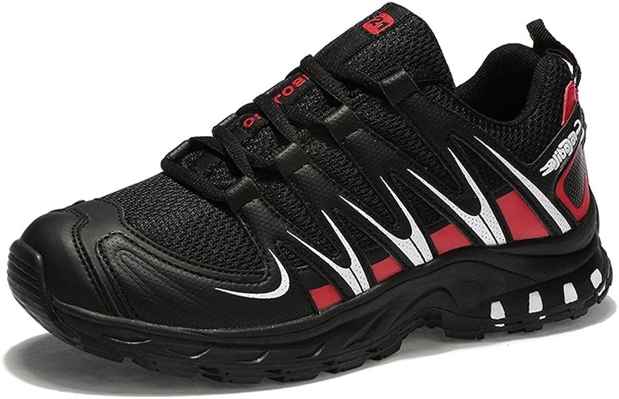 JEDVOO Zapatillas de Senderismo Zapatos para Correr en Montaña y Asfalto Aire Libre y Deportes Zapatillas de Running para Hombre: Amazon.es: Zapatos y complementos