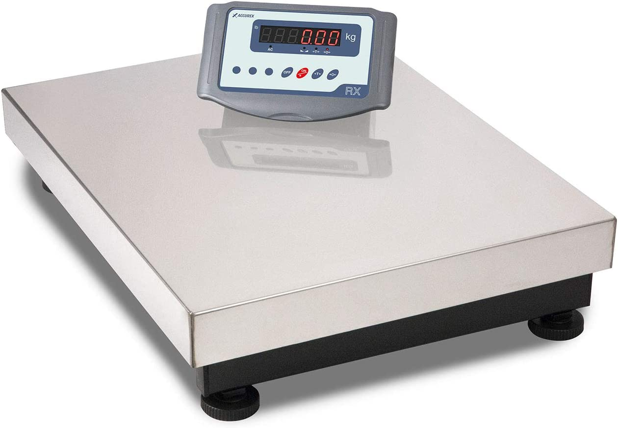 Accurex Báscula Industrial de Plataforma RXT-60M (60 kg / 10 g, Plataforma de Pesaje 50 x 40 cm)
