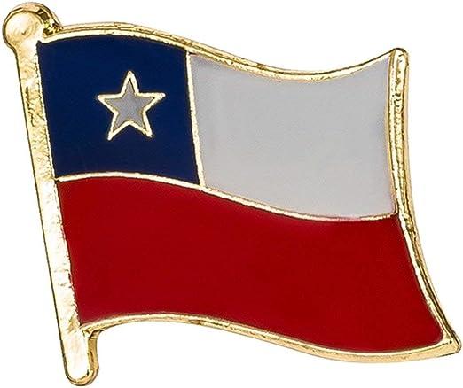 Pin de bandera de Chile • Tamaño aproximado: 18 mm x 16 mm acabado ...