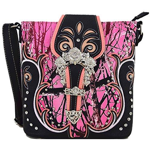 Western Buckle pour western Origin style main Sac Pink à à Femme femme bandoulière 1Zw1q4