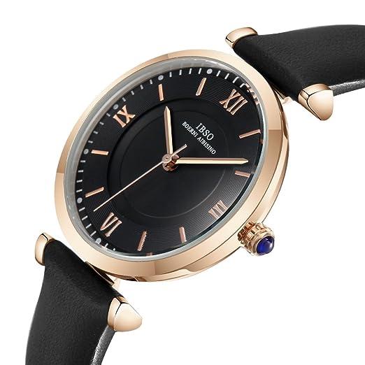 Women Creative Leather Watches Quartz Analog Roman Numeral Watch Waterproof Unique Fashion Design Wristwatch (6602