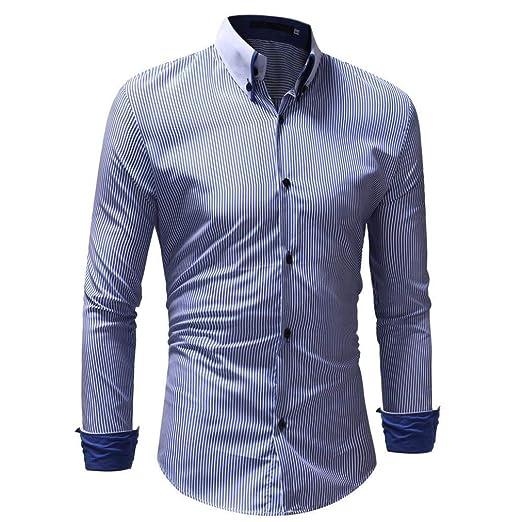 Tops De Los Hombres Camisa De Polo De Manga Larga Moderna Clásico del Ajuste  Camisa De Las Camisas De La Blusa De La Oficina del Negocio del Ajuste  Delgado ... dff8d3971c8