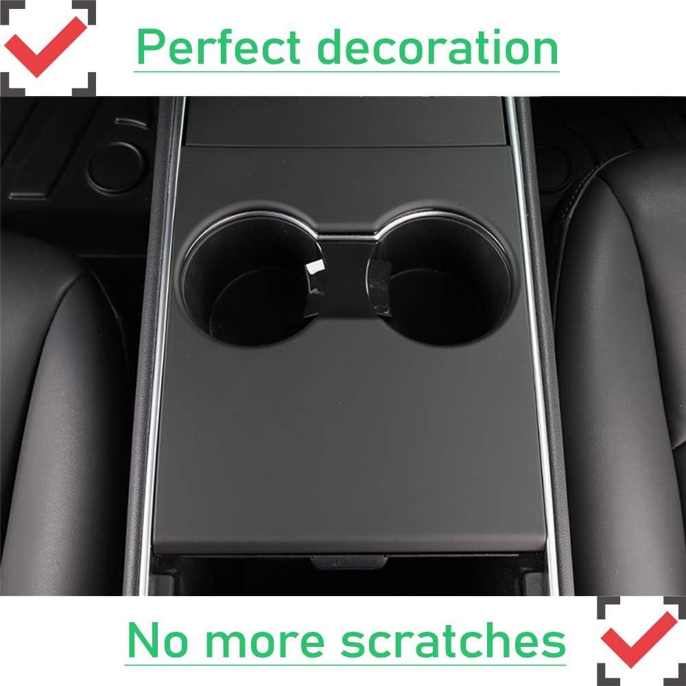 Matte Black EVFIT Model 3 Model Y Center Console Cover Wrap Console Cover for Tesla Model 3 2018-2020 Model Y 2020 Accessories