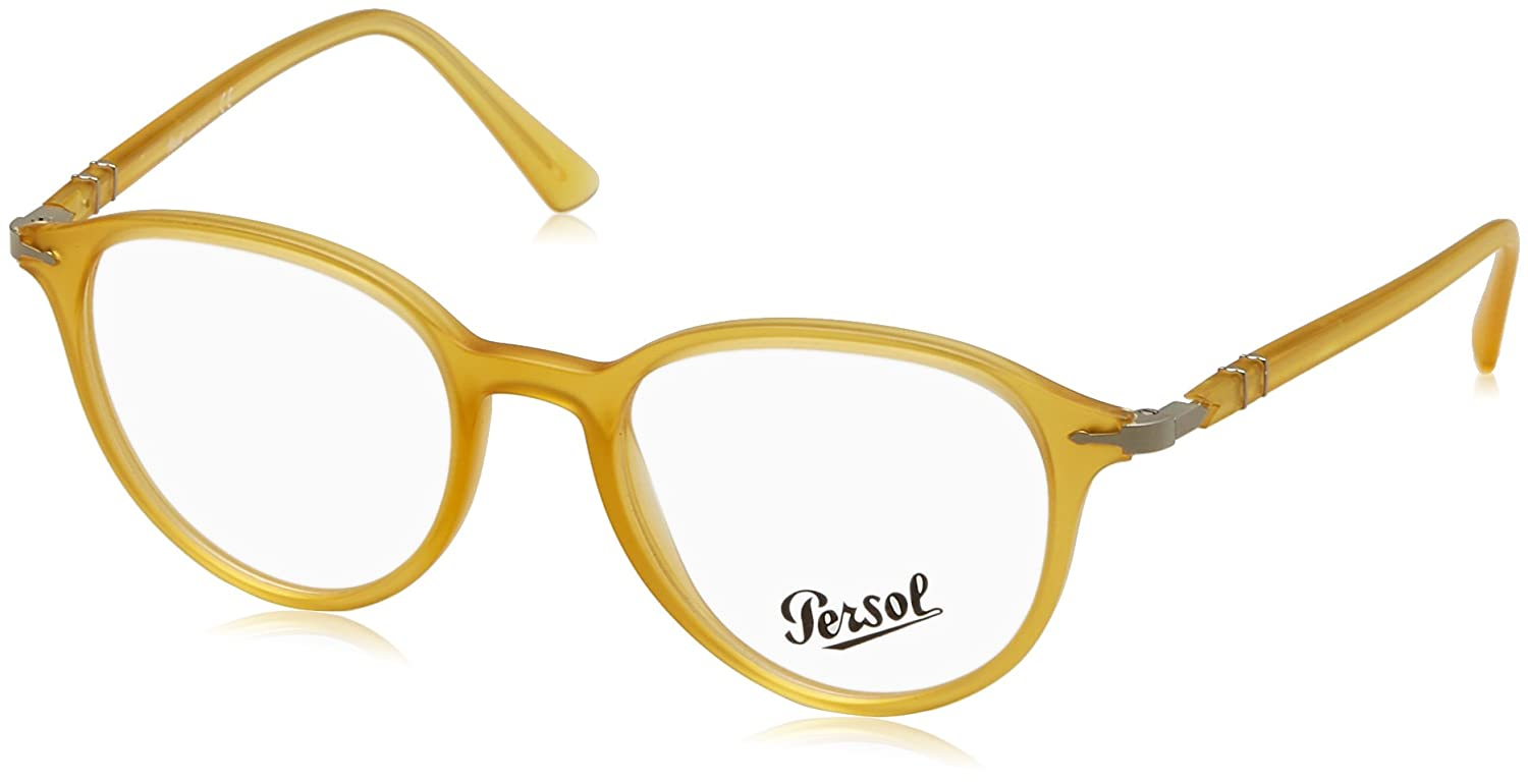 20868dcfe519 Persol 0PO3169V-1048 MATTE YELLOW -50mm mens at Amazon Men's Clothing store: