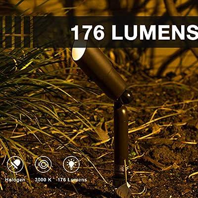 GOODSMANN Low Voltage Landscape Lighting Pro Light Set Waterproof Low Voltage Lighting with Spike Stand for Garden Yard Pathway Lawn Driveway Outdoor Lighting 10-Piece 9920-9903-10