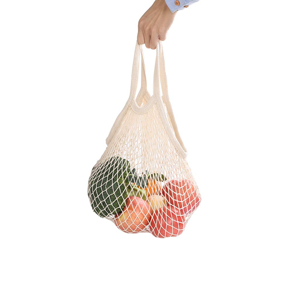 Reusable Produce Bags, Organic Cotton Mesh Bags for Grocery Shopping and Storage ,Machine Washable, Biodegradable, Eco-Friendly(11 Pack/2 Pack) (2)