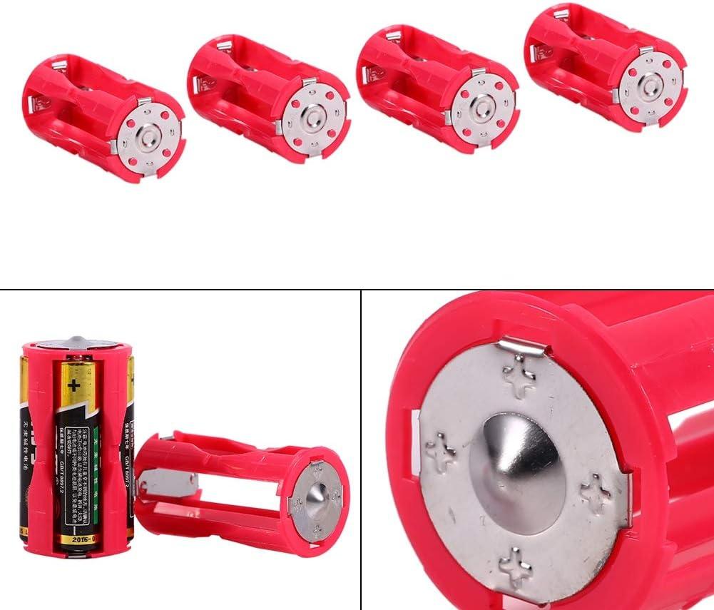 Diyeeni 4Stk AAA auf C//Baby Gr/ö/ße 2.5cmx4.8cm Parallel Batterie Konverter Rot Batterie Adapter C Size Batterie Aufbewahrungsbox