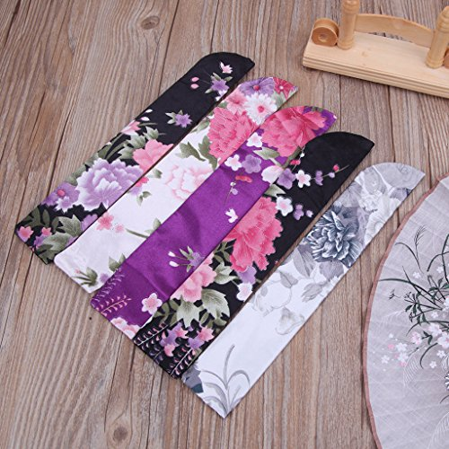 Yeahii Elegant Silk Hand Fan Bag Holder Pouch Folding Hand Fan Case Party Wedding Bags by Yeahii (Image #2)