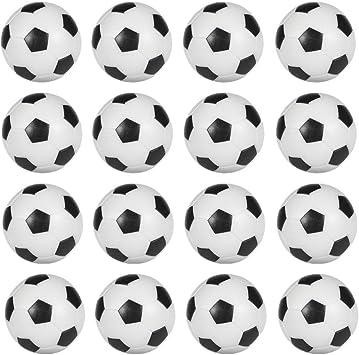 honbay 16 piezas 36 mm negro y blanco cuadro de balones de fútbol de mesa pelotas de fútbol Foosballs: Amazon.es: Deportes y aire libre