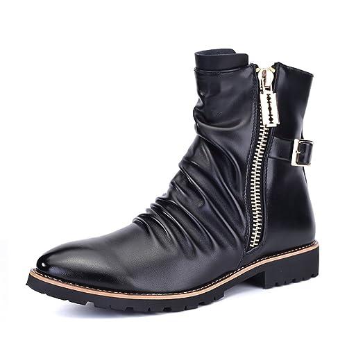 stivali da uomo in inverno Stivali da pioggia Scarpe di marea Stivaletti  uomo 9a019237277