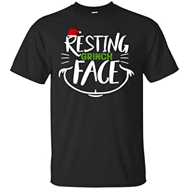 226adc9a536ac Raruca Resting Grinch Face Christmas Holiday T Shirt (Unisex T-Shirt Black