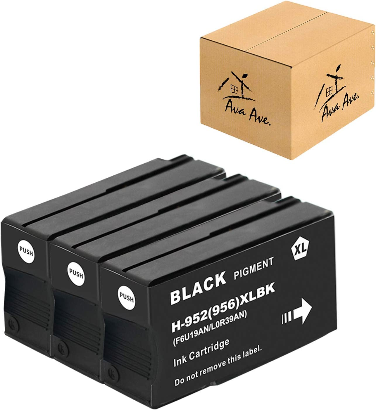 3-Pack 952XL Replacement for HP 952XL 952 XL Black Ink Cartridges with Advanced Chip Technology, (3 Black) Used for HP OfficeJet Pro 8710 8720 7740 8715 8740 7720 8730 8740 8210 8715 8216 8702 Printer