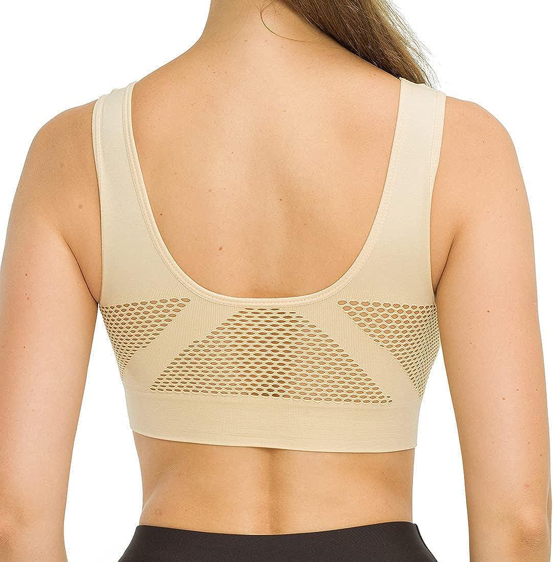 Big Size Sports Bra Breathable Free Sleep Daily Yoga Bra Women Padded Sports Top
