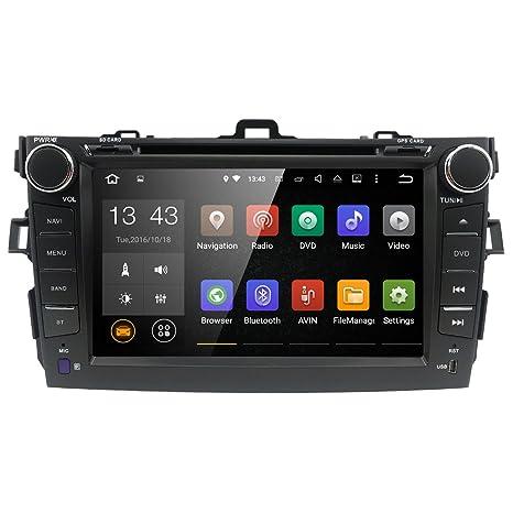 Reproductor de DVD y CD para coche WiFi Android 7.1 GPS estéreo de 8 pulgadas para