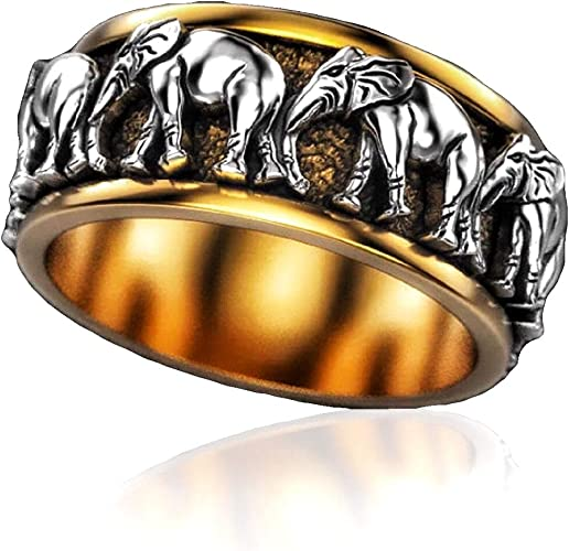 Vintage Oxidized Elephant Ring in Handmade 925 Silver Sterling,Men/'s Ring,Men/'s Jewellery,Animal Ring,Gift for Dad
