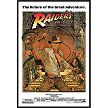 "Indiana Jones - Raiders Of The Lost Ark - Framed Movie Poster / Print (1982 Re-Release - Hat & Whip) (Size: 27"" x 40"")"