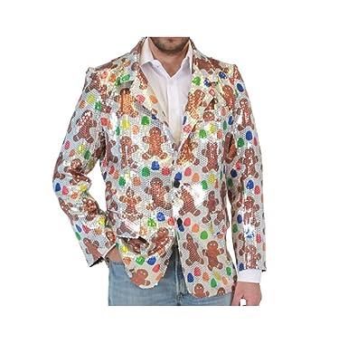 sequin gingerbread man ugly christmas suit jacket smallmedium - Christmas Jacket