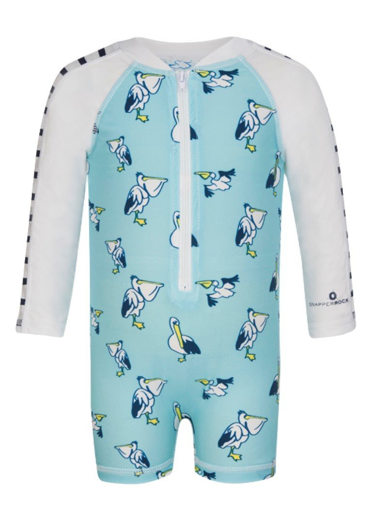 Snapper Rock baby-boys Baby Baby Boys' Zippered One Piece Long Sleeve Sun Suit