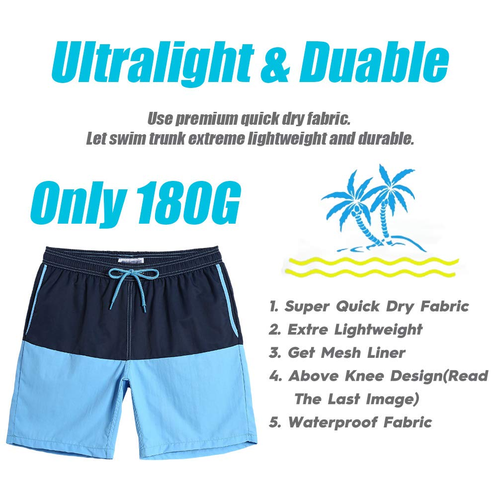 46438e309e Swimwear Loftine Mens Swim Trunks Slim Beach Boardshorts Sports Shorts with  Mesh Lining for Men