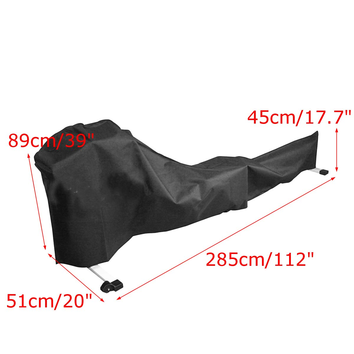dDanke Black Rowing Machine Cover Sports Equipment Dust Covers for Outside Weather Rain & Sunshine Resistance 285x51x89cm by dDanke (Image #2)