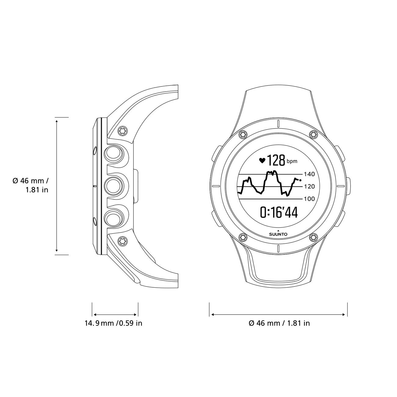 Suunto Spartan Trainer Wrist HR Multisport GPS Watch (Gold) by Suunto (Image #7)