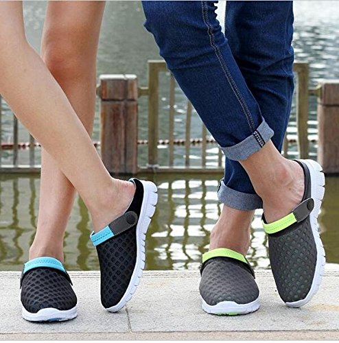 Blue Slippers Highdas Unisex Sandals Beach Heel Summer Flops Men Black Shoes Mesh Fashion Women Flat Flip Breathable Couples FZxFqTr