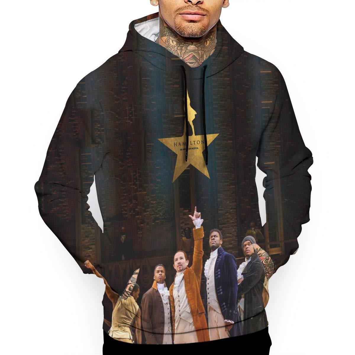 cbc0d84ba Amazon.com: Men's 3D Print Hoodie Sweatshirt Hamilton Drama Sports Cotton  Sweater: Clothing