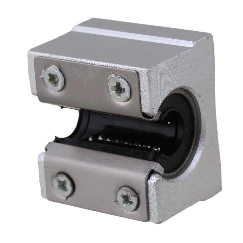 CNBTR SBR12UU Silver Motion Ball 40mm Linear Bearing Slide Roller Bearing Slide Block for CNC