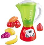 Kids Juicer Kitchen Appliance Toy Smoothie Maker Blender & Food Playset