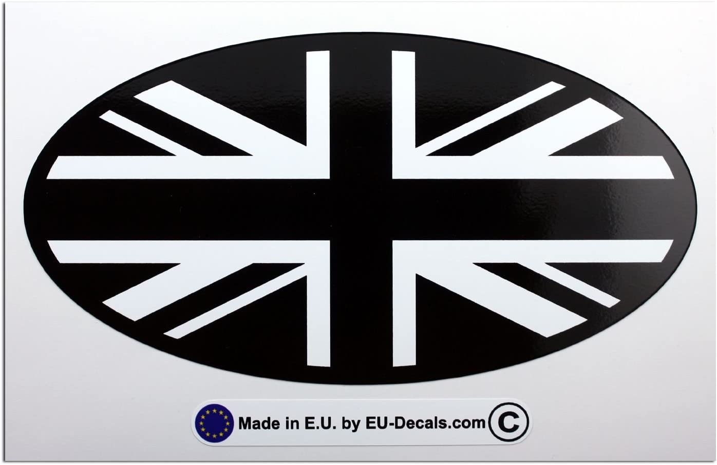 2 X 70mm 2.76 UK Union Jack flags Laminated Decal Sticker High Quality by MioVespa collection