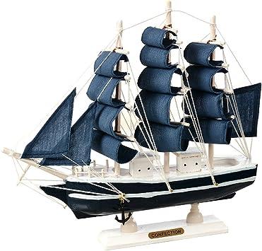 M1123 Cutogin barco marinero de madera estilo mediterr/áneo decoraci/ón del hogar hecho a mano tallado n/áutico barco modelo regalo