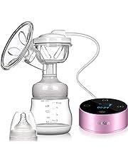 Extractor de leche eléctrico, extractor de leche materna Pantalla táctil portátil recargable Smart LCD con 3 modos 9 niveles de succión de leche materna, masaje de mama