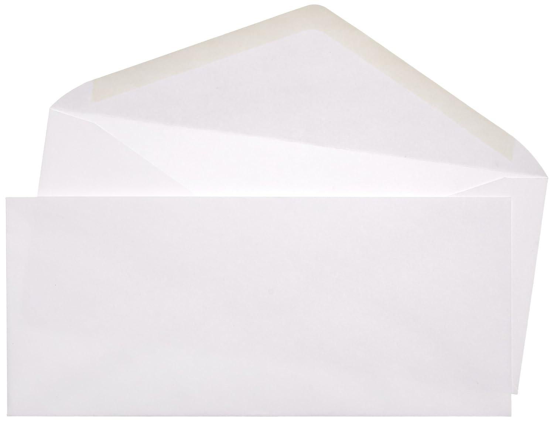 AmazonBasics #10 Envelope, Gummed Seal, White, 500-Pack