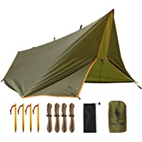 FREE SOLDIER Camping Tarp Waterdicht 3 m x 3.2 m Grote Hangmat Tent Tarp Draagbare Dekzeil Anti-UV Onderdak Zonneblok…
