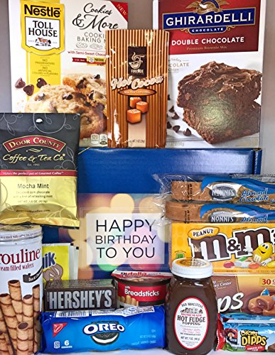 Large Chocolate Lovers Birthday Gift Box Basket Prime Approx 6 Lbs Happy Birthday Candy Wishes For Friend Mom Dad Son Daughter Brother Sister Aunt Uncle Cousin Grandma Grandpa (Lovers Basket Chocolate Gift)