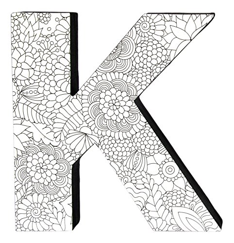 Color Joy 55523 Large Block Letter 'K' Wall Hanging Letters