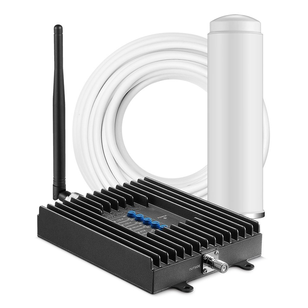 SureCall Fusion4Home Cell Phone Signal Booster for Home Omni/Whip Antenna Configuration | Whip indoor antenna for easier install | Covers up to 2000 sq ft | Boosts Voice, data for 4G, LTE, 3G by SureCall